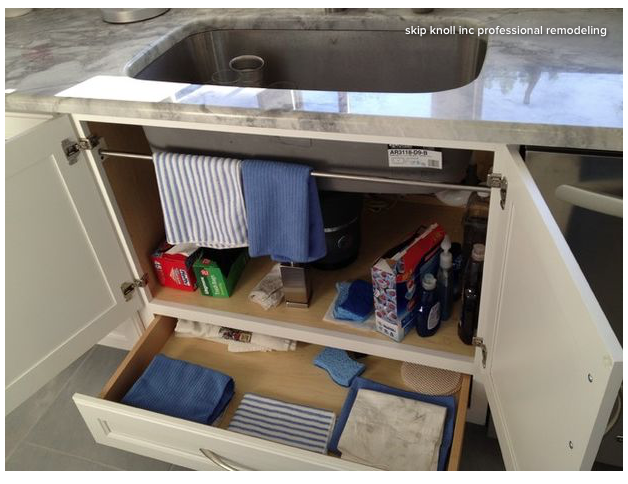 I Like How There S A Towel Bar Inside The Cabinet As Well Drawer