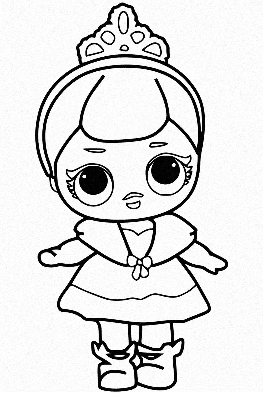 Раскраски куклы ЛОЛ Сюрприз. Распечатайте бесплатно все серии!