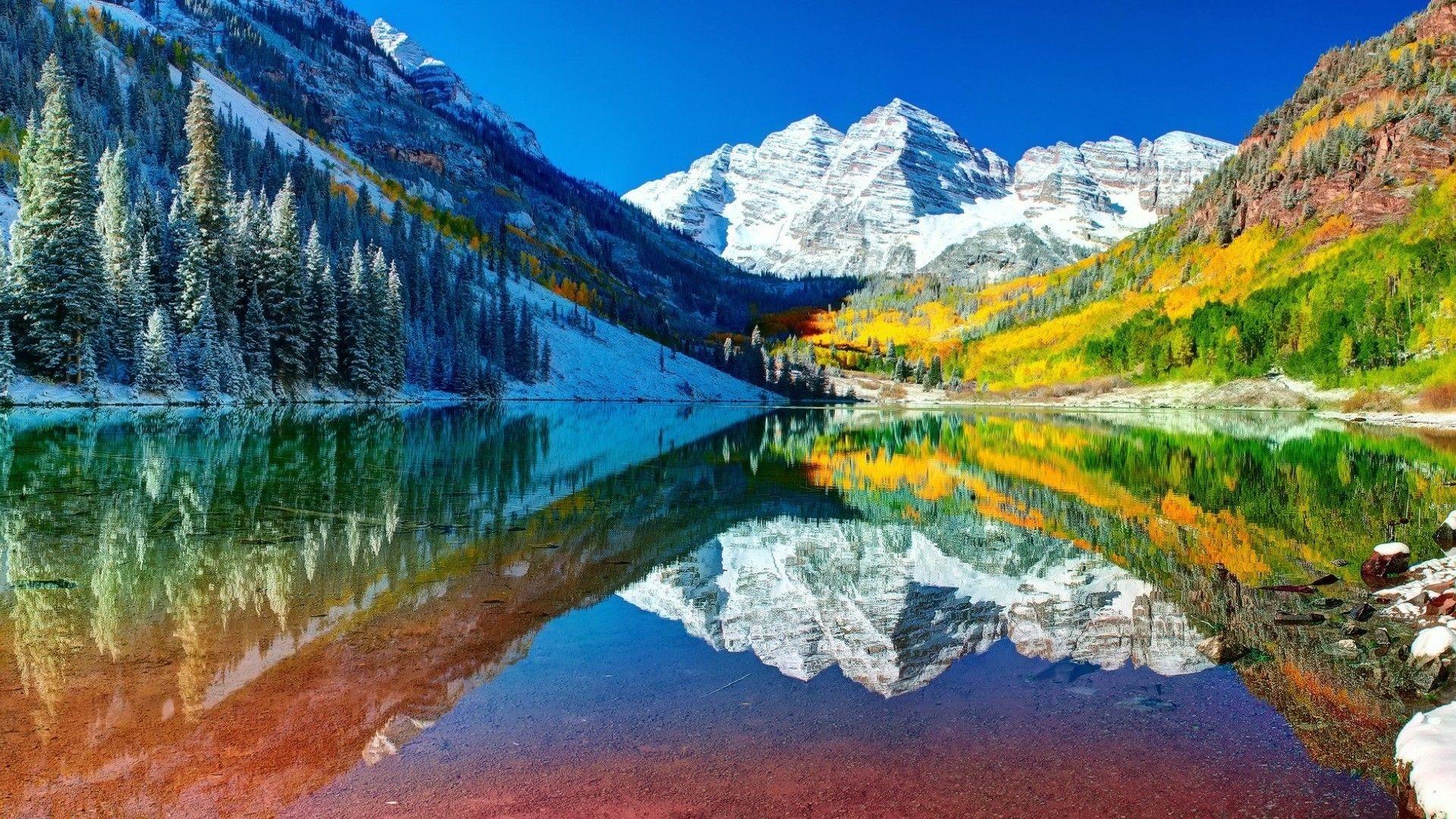 Heaven On Earth 1920x1080 Maroon Bells Maroon Bells Colorado Colorado Mountains