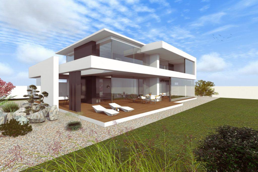 Modernes Haus im Bauhausstil - Massivhaus \/ Wohnhaus - haus modern bauen