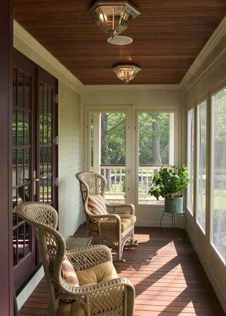 Beautiful Enclosed Porch Love The Ceiling House With