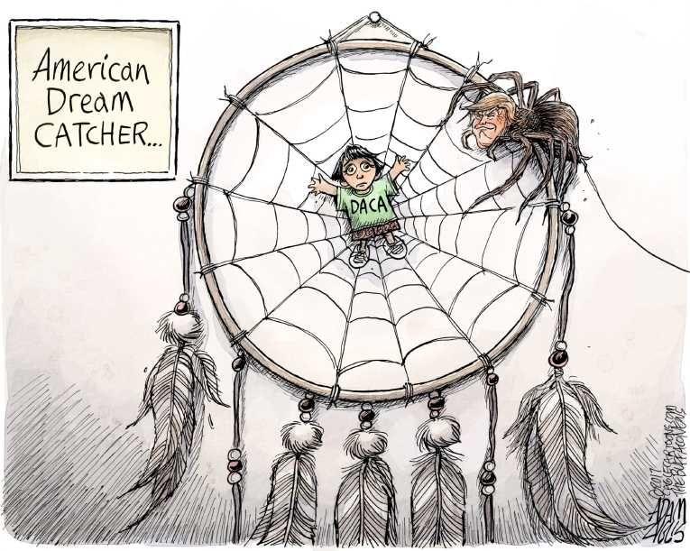 Image Result For Daca Political Cartoon Political Cartoons View