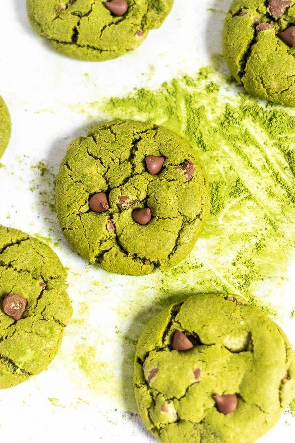 Photo of Quick Matcha Milk Chocolate Chip Cookies – Sprinkles & Sea Salt