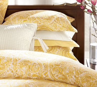 Painterly Paisley Bedding Cheerful Love Yellow To Go In Guest Room If A Boy Paisley Bedding Yellow Bedding Yellow Duvet