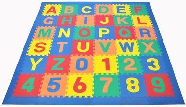 Alphabet Puzzle Activity Mat Blue Border Kids Playmat Kids Mat New Baby Products