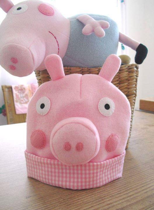 cdf38e462e717 touca peppa pig Fleece Crafts