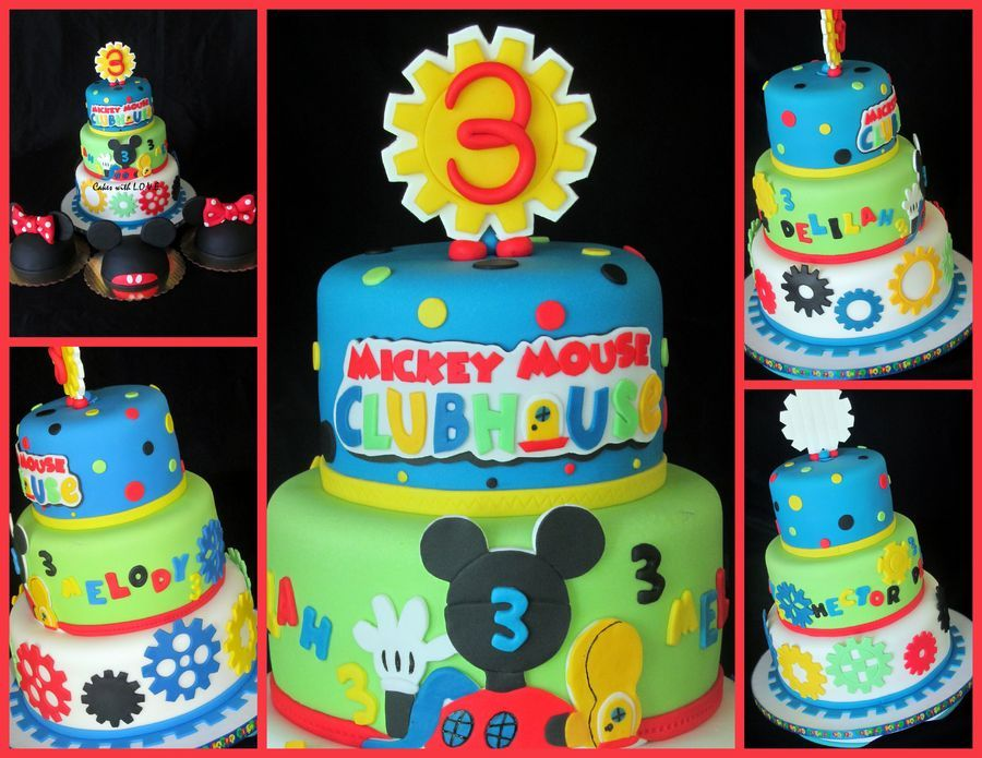 Marvelous Mickey Mouse Clubhouse Cake With Smashs Mickey Cakes Mickey Funny Birthday Cards Online Elaedamsfinfo