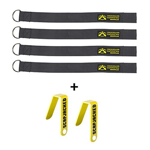 Squat Rack Straps and Chart Hooks Compatible with Crossover