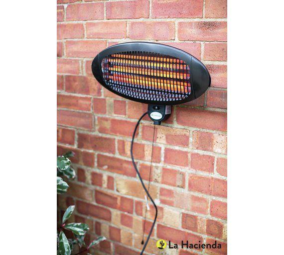 Buy La Hacienda Wall Mounted Patio Heater At Argos Co Uk Visit Argos Co Uk To Shop Online For Outdoor Heaters Patio Heater Outdoor Heaters Outdoor Living Diy