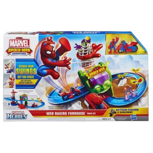 Playskool Super Heroes Marvel Spider-Man Adventures Web Racing Funhouse Playset
