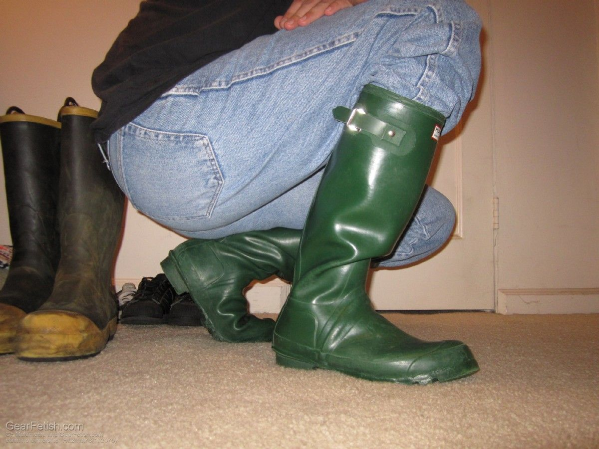 Green wellies are being seen more & more