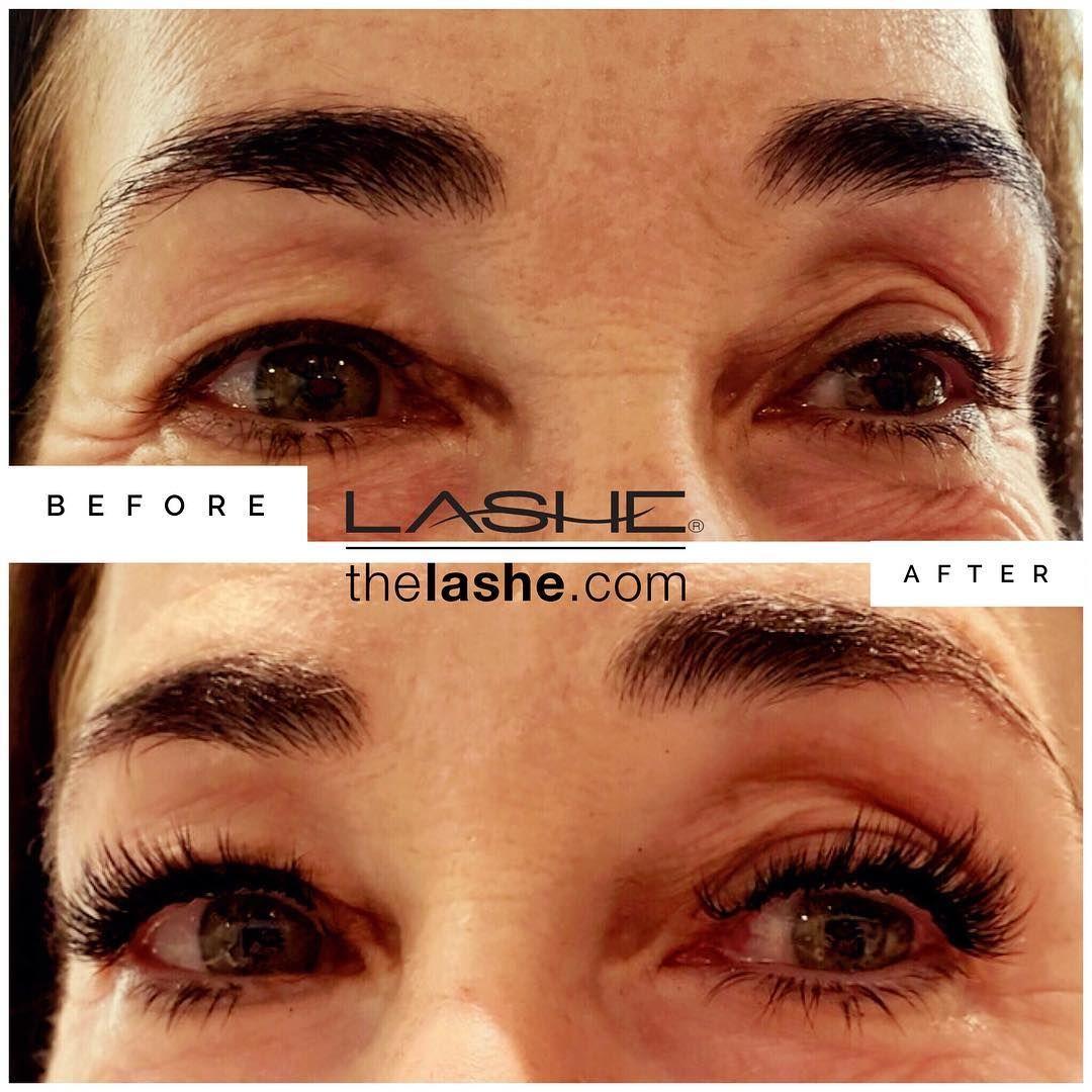 Beautiful eyelash extensions set by salon lashe chicago