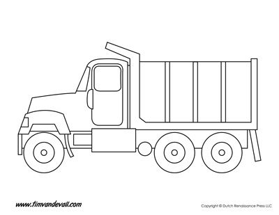 Print a set truck templates / truck shapes for an art project with