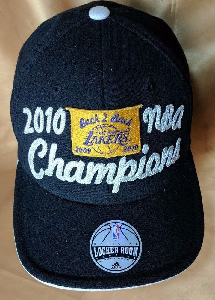 new style b1023 0c106 Los Angeles Lakers 2010 NBA Champions Adidas Locker Room Hat Cap back 2  back  adidas  LosAngelesLakers