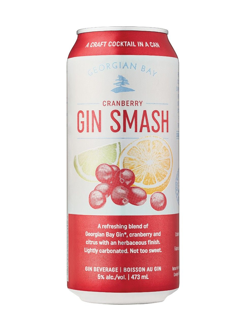 Image For Georgian Bay Cranberry Gin Smash From Lcbo Cranberry Gin Cocktails In A Can