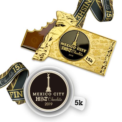 medalla carrera hot chocolate 15K mexico  3f1cade1f7b7d