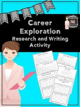 FREE! Get kids to start thinking about their future young! When I created this, we researched potential careers online and filled this form out appropriately. Then, we took it one step further and progressed throughout their career. They thought about things they hadn't thought of before.