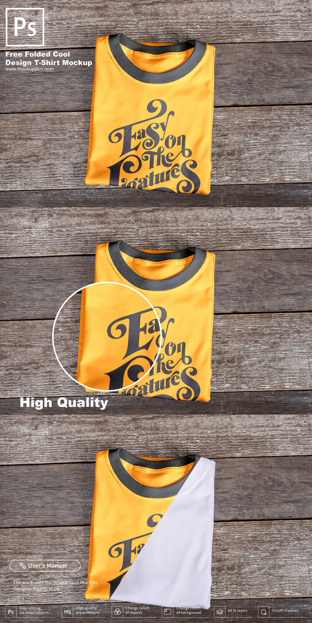 Download Free Folded Cool Design T Shirt Mockup Psd Template Shirt Mockup Tshirt Mockup Mockup