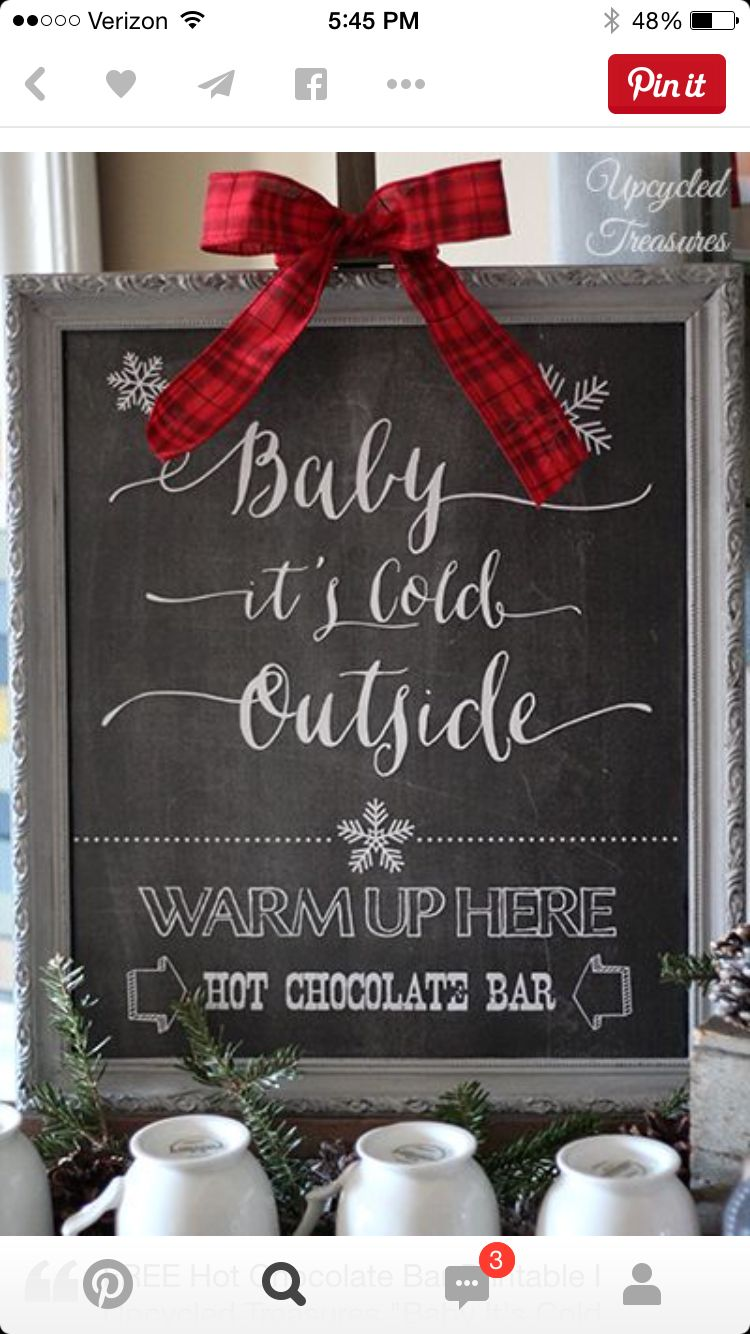For our hot cocoa bar!