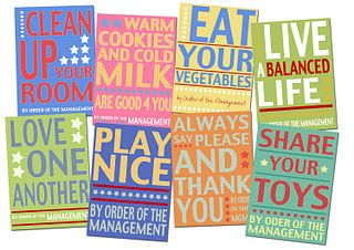 Fun wall sayings for a playroom (using vinyl and painted canvases).