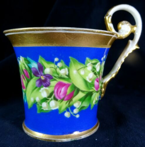 Alt-Wien Porzellan-Tasse, bemalt, Blumen, Unterglasur Bindenschild Pressmarke | eBay