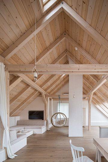 Archiweb rekonstrukce venkovskeho bydleni  lanech small wooden house loft design also modern bohemian interior opulentmemory homes and interiors in rh pinterest