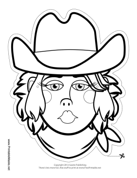 Whats Better Than A Plain Old Coloring Page You Can Wear This Color In Cowgirl Mask Will Be Real Hit At Any Western Themed Party
