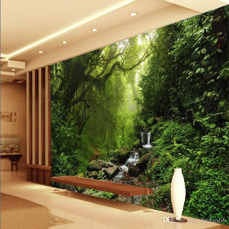 Photo 3d Wallpaper Custom Natural Sunlight Green Eye Forest Landscape Wallpaper For Wall 3d Bedroo Wall Wallpaper Living Room Background 3d Wallpaper For Walls
