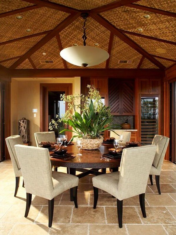 Room · Beautiful Design Of A Round Dining Table ...