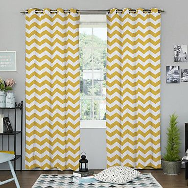 Rod Pocket Grommet Top Tab Top Two Panels Curtain Designer Bedroom ...