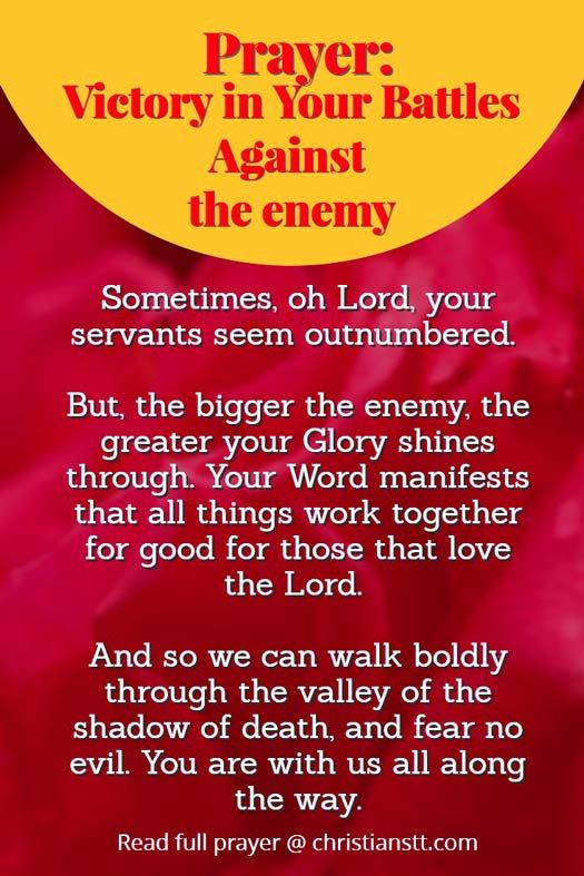 Prayer: Spiritual Warfare Battles Against the enemy | DAILY