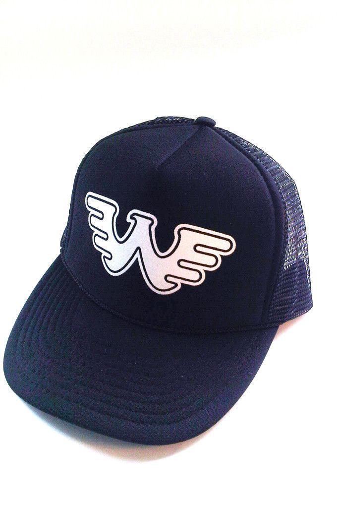 3ddcca211b1f7 Waylon Jennings Symbol Flying W Trucker Hat - Black