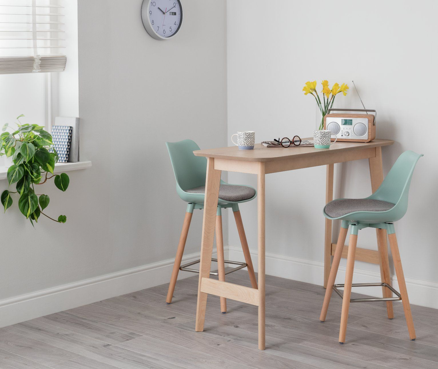 Buy Argos Home Skandi Bar Table & 2 Charlie Mint Bar