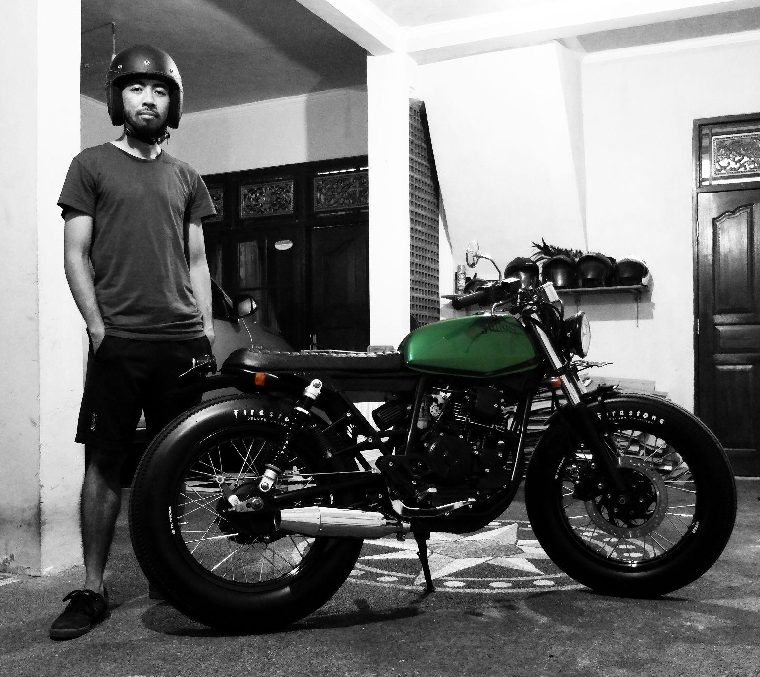 Green Tank Julius Bratstyle Bali Yamaha Scorpio 2013