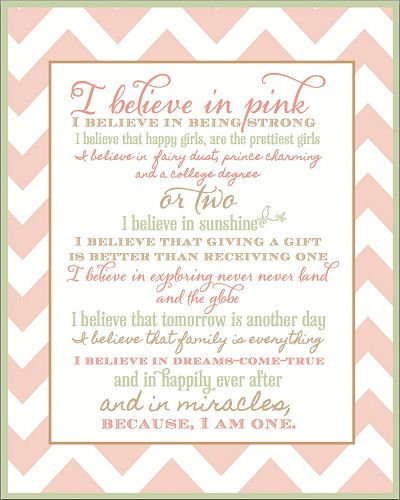Quotes For A Baby Girl: Free Printable Pink And Green Nursery Wall Art With