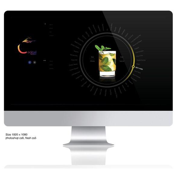 Web design project_내게 맞는 칵테일 찾기_Cocktailing on Behance