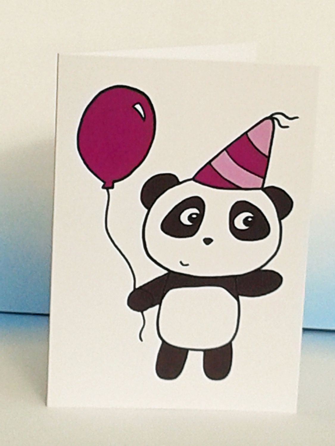 Panda Birthday Card Cute Panda Card Party Card Congratulations