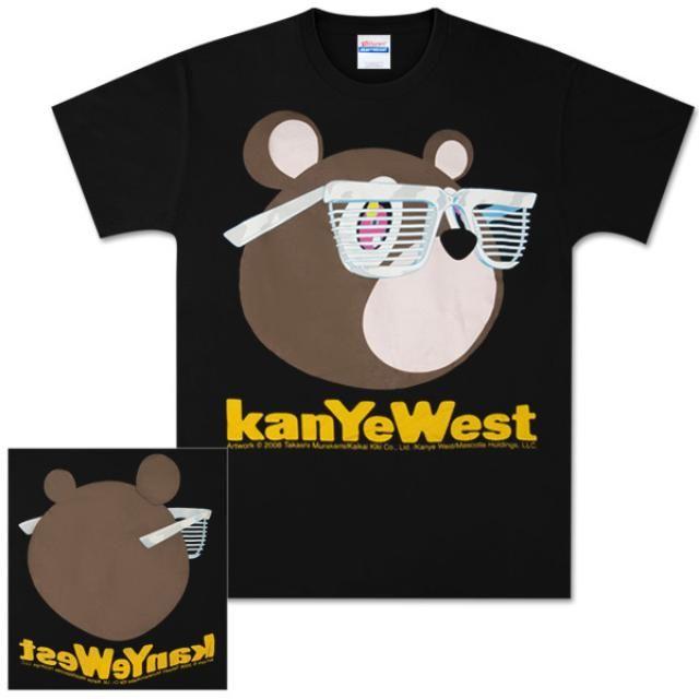 Kanye West Black Bear Glasses Name Tee Kanye West Bear Bear Shirt Bear Glasses