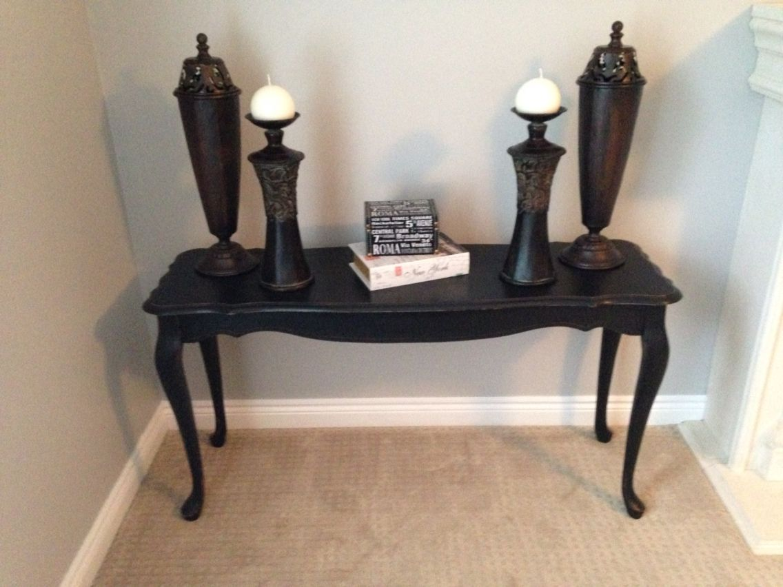 Foyer Table Distressed : Distressed blue console table contactmpow