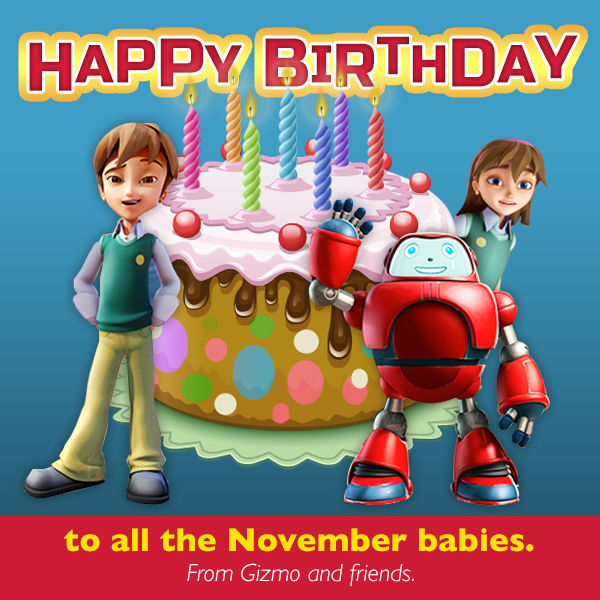 Are you celebrating a birthday this month? Gizmo and the