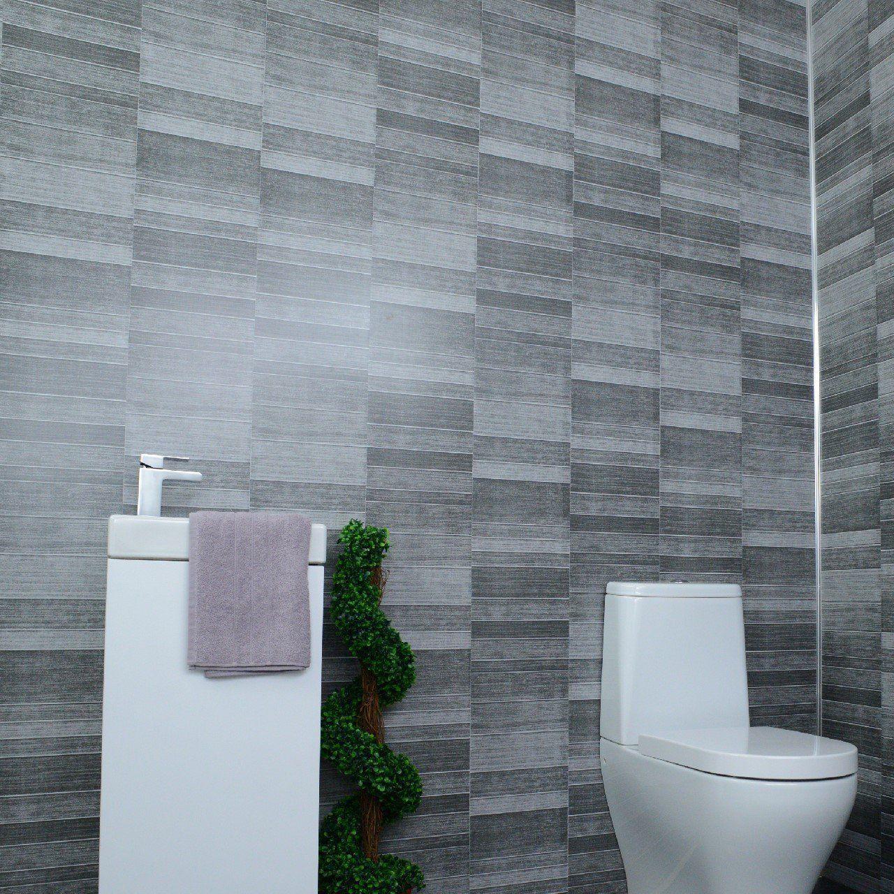 Dark Grey Bathroom Wall Panels Cladding Panels Kitchen Shower Wetrooms 100 Waterproof By Claddte Gray Bathroom Walls Bathroom Wall Panels Dark Gray Bathroom