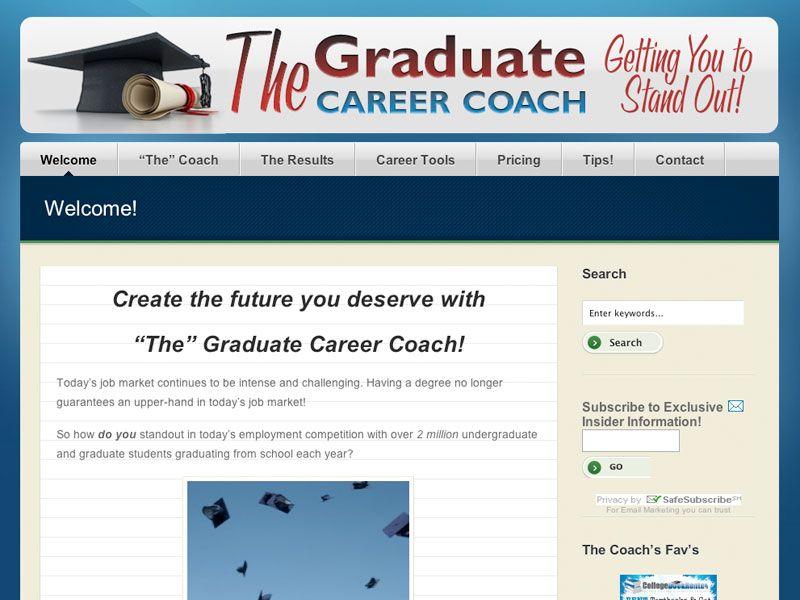 The Graduate Career Coach Website Career coach, Coach