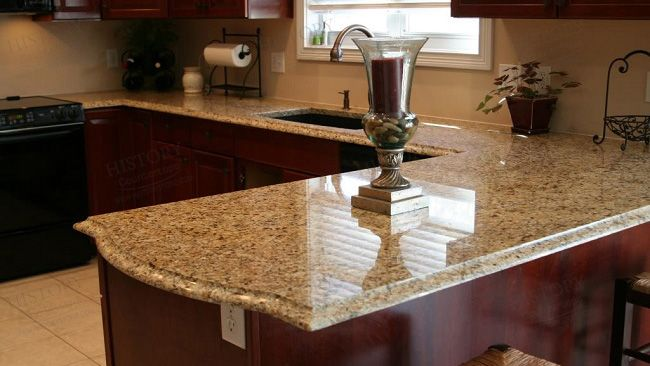 Best Custom Brazil Gold Granite Countertops Supplier Gold