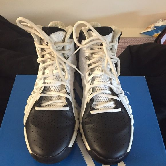 39bef22f10f1 Adidas basketball shoes Rarely worn. Bottom is barely even dirty. Good shoe  to play in