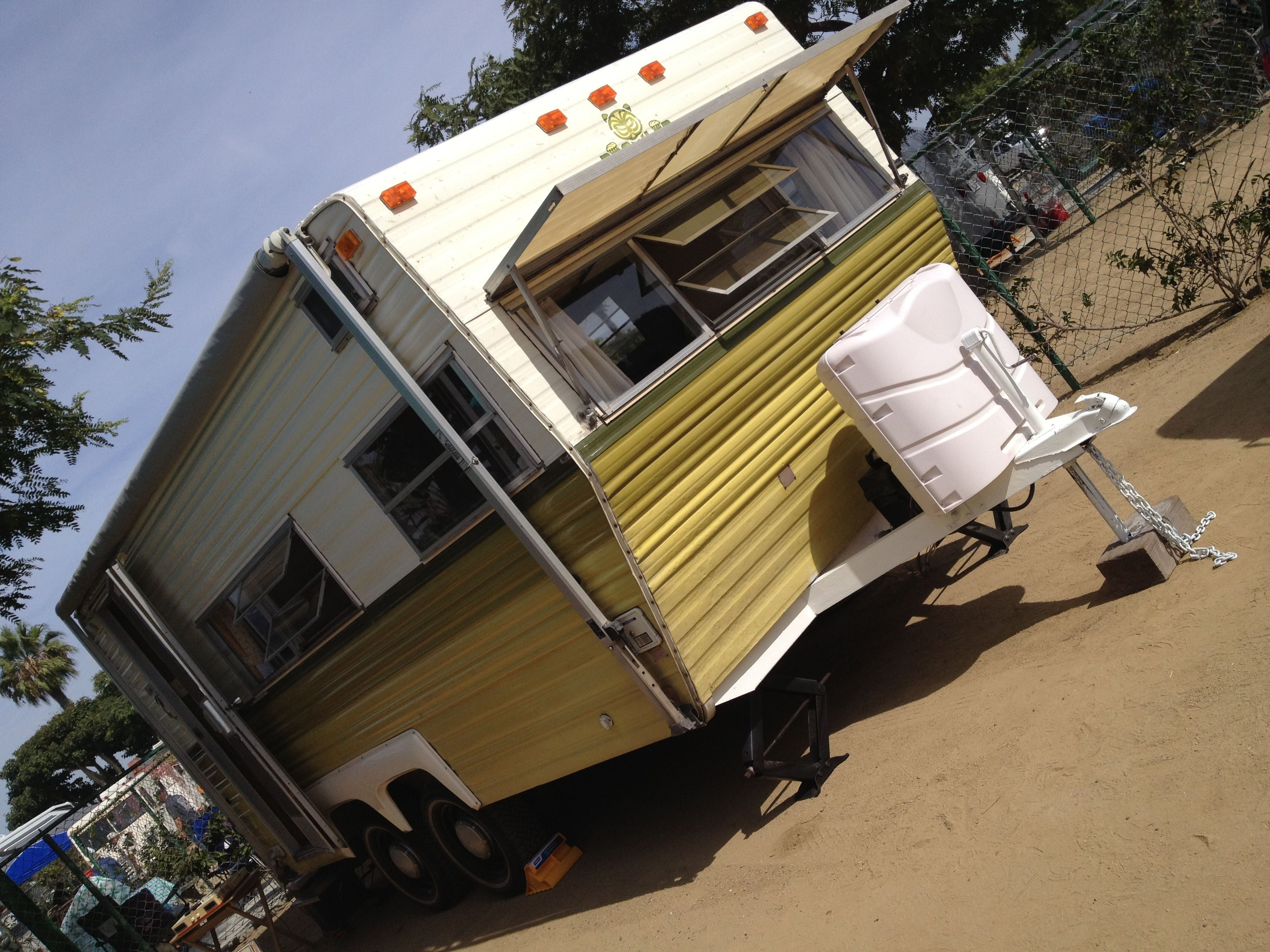 1976 Prowler 19 foot, door in rear & w/ awning. Camper Renovation,