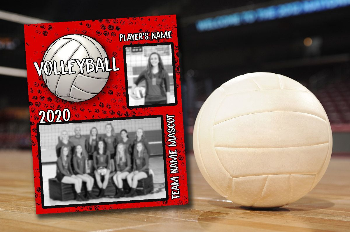Volleyball Memory Mate Template For Sports Photography Or Scrapbook Photoshop Layered Template Psd Instant Download Personalized Photo In 2020 Sports Photography Templates Team Names