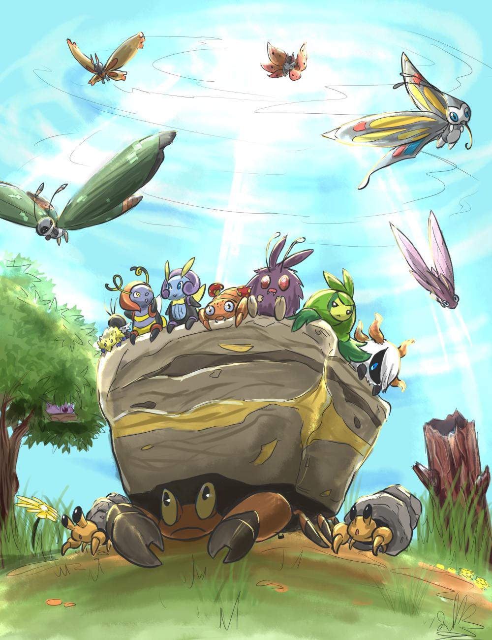 phyllocactusdraws: Do you love bug-type pokemon?   The Original Pokemon  Community!   Type pokemon, Pokemon, Pokemon images