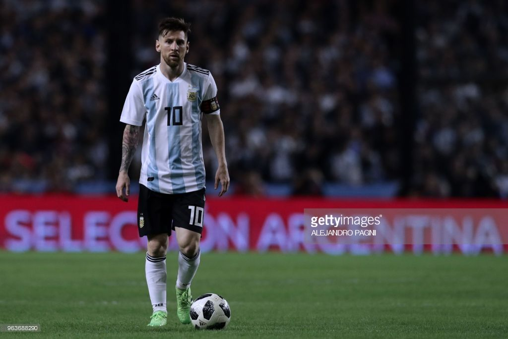 Argentina's Lionel Messi is pictured during the