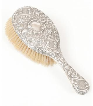 victorian silver ladies hair brush