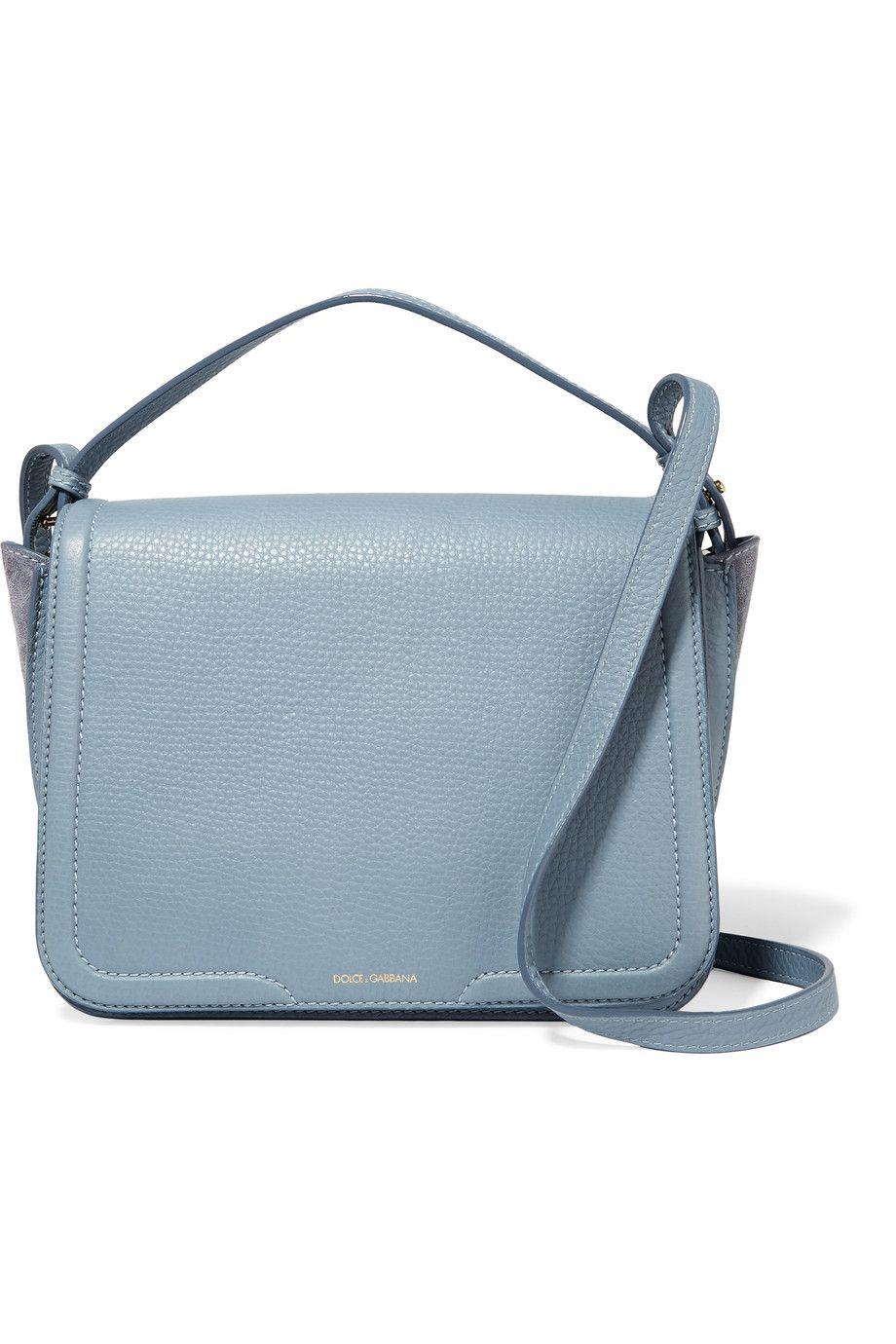 DOLCE   GABBANA Suede-Paneled Textured-Leather Shoulder Bag.  dolcegabbana   bags ea021f4028e93